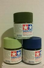 Tamiya acrylic paint 3 × 23ml bundle.