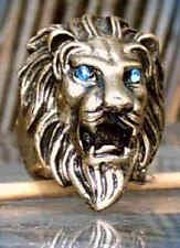 Anello Testa di leone leone leone bronzo colori con bu Occhi 18 mm 17,5 mm 17 mm