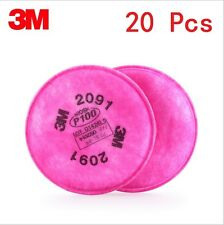 20Pcs=10 packs 3M 2091 particulate filter P100 for 6000 7000 series respirator