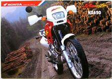 HONDA Dominator NX650 - Motorcycle Sales Brochure- 1996 -#6P-UK/D-12.95-E-NX650