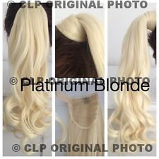 """PONYTAIL Hair Extension. like REAL hair, curly, straight, 16"""" synthetic, THICK,"""