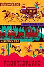 Vintage Disney 1955 Frontierland ( Stage Coach )Collector's Poster Print - B2G1F