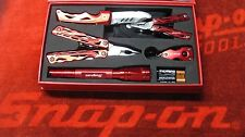NEW SNAP ON TOOLS 5 PIECE MULTI TOOL SET IN BOX LED FLASHLIGHT KNIFE KEYCHAIN