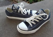 Youth Boys CONVERSE ALL STAR sneakers size US 2Y solid blue kids shoes shos low