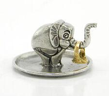 Portanelli in peltro elefante. soprammobile per appoggiare i tuoi anelli.italy