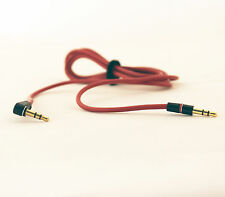 Red Audio AUX Cable 3.5mm Plug Male to Male Replacement for Soul Monster Beats