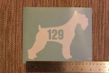 3 x Wheelie Bin Numbers Schnauzer House Number Sticker Dog