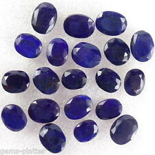 170 CT+ NATURAL FINEST ROYAL BLUE SAPPHIRE OVAL FACETED RING SIZE LOT 10-12mm