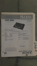 Sony ps-lx255 service manual original repair book stereo turntable record player