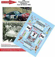 Decals 1/24 réf 818 Porsche 911 Sc Frequelin  Tour de Corse 1982