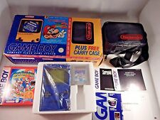 RARE Original Game Boy Play it Loud DMG-01 Blue System (COMPLETE IN BOX) #S692