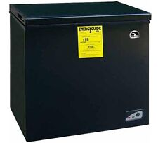 Adjustable Thermostat Freezer Chest 5.1 CF Quick Freezing Easy Defrost, Black