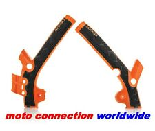 ACERBIS X-GRIP FRAME GUARDS ORANGE BLACK KTM SX85 2013 2014 2015 2016 2017 21869