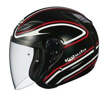 NEW OGK KABUTO AVAND2 STAID BLACK RED M Medium  Open Face Helmet Japanese Model