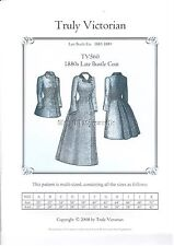 Sewing pattern for 1880's ladies bustle old west victorian coat UNCUT TV560