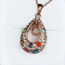 43.9CT 18K Rose Gold Plated Exquisite Crystal Pendant Necklace New Style MSD23