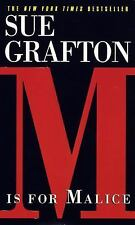 Kinsey Millhone Mystery: M Is for Malice by Sue Grafton (1997, Paperback)