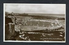 View of People in the Bathing Pool, Cliftonville. Stamp/Postmark - 1935