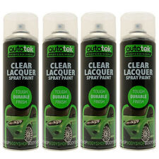 Autotek AT000CL500 Clear Lacquer Spray Paint 4 Cans 500ml