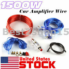 USA 1500W 8 Gauge Car Audio Amplifier Amp Installation Wiring Wire Kit+ RCA Fuse