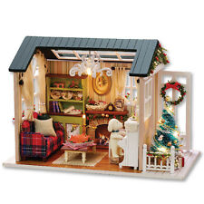 Kits Wood Dollhouse Miniature DIY House Room with Musix Box Gift Holiday Time