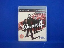 ps3 YAKUZA 4 Japanese Underworld Action Game Playstation PAL