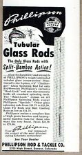 1954 Print Ad Phillipson Tubular Glass Fishing Rods Denver,Colorado