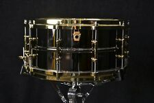 """Ludwig drums Black Beauty 6.5x 14"""" Brass snare drum with Brass Hardware LB417BT"""