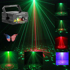 Suny 24 Patterns 3 Lens RG Laser Light Projector Blue LED Stage DJ show Lighting