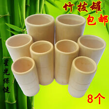 8 X Traditional Cup Cupping Massage Bamboo Wood Acupuncture Fire Therapy Home