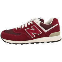 NEW BALANCE ML 574 FBR SHOE RED ML574FBR SNEAKER TRAINERS BURGUNDY M574 373 576