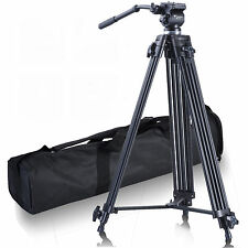 UK 1.8m Full Length FANCIER Video Head Camcorder Camera Tripod For Canon Nikon