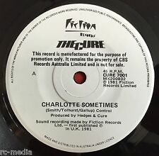 "THE CURE -Charlotte Sometimes- V Rare Australian white label promo 7"" (vinyl)"