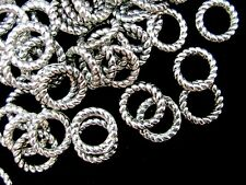 60 Pcs - 9mm Twisted Tibetan Silver Closed Jump ring Craft Beading Craft  K80