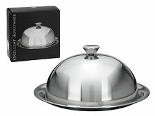 LargeFood Cover Dome with Plate Restaurant Stainless Steel Cloche Serving Dish