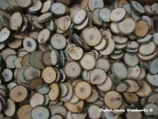 "200 x 1"" to 1.5""  mix of tree slices, rustic wedding, wood slices, buttons, log"