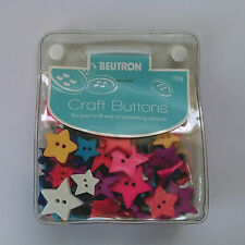 Beutron Craft Buttons ~ Assorted Bright Stars ~ 150 grams
