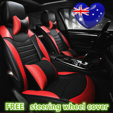 Black Red Waterproof Car Seat Cover Ford Focus Mondeo Ford Falcon Ford Ranger