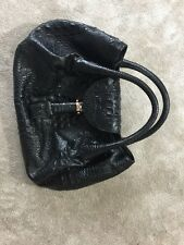 Fendi Spy Crocodile Print Leather Bag
