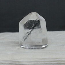"1.52"" Black Tourmaline Included Quartz Crystal Shcorl Tourmalated Point, Tmq29"