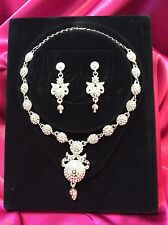 Designer Bollywood Indian Bridal Necklace Earrings Jewellery Set Party Wear #1