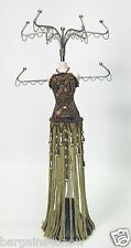 MANNEQUIN DOLL JEWELRY STAND BRONZE & GOLD USED