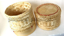 Size 3.0 inch ticky Rice Bamboo Basket Thai Lao Food Cooking Free Shipping