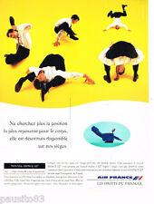 PUBLICITE ADVERTISING 085  1995  AIR FRANCE   nouvel espace 127