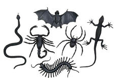 Sachet de 6 créatures horribles 8 à 12 cm decoration halloween araignee serpent