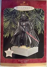 Star Wars Darth Vader 1997 Hallmark Keepsake Ornament Magic Light & Voice New