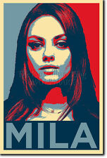 MILA KUNIS ART PHOTO PRINT (OBAMA HOPE) POSTER GIFT