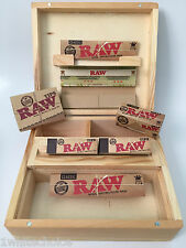 Large Wooden Roll Box Christmas Gift Set Mixed Raw Kingsize Papers And Tips Deal