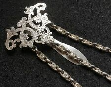 Superb Fully Hallmarked Solid Sterling Silver Fancy Chain Chatelaine