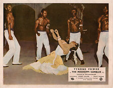 Mississippi Gambler original lobby card belly dancing girl and male dancers